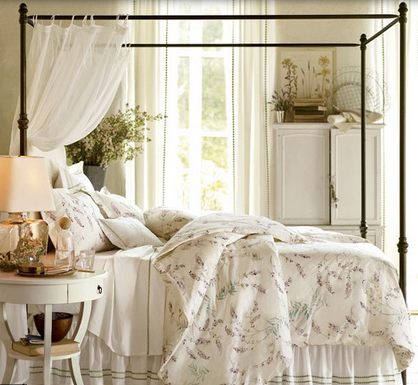 Dreamy and Romantic Full Draped Canopy Beds 12