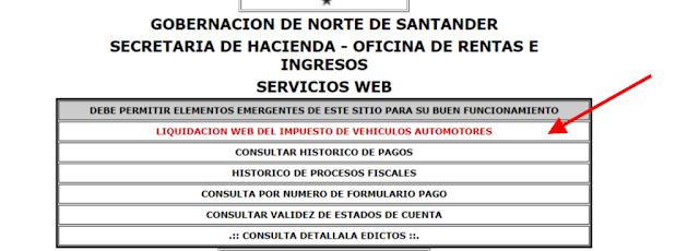 Impuesto vehícular en Norte de Santander 2019