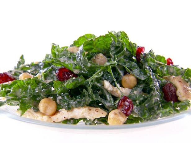 Heat a small saute pan over medium heat Kale and Hummus Salad Recipe