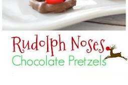 Chocolate Pretzel Rudolph Noses for a Fun Christmas Food Craft Treat Recipe
