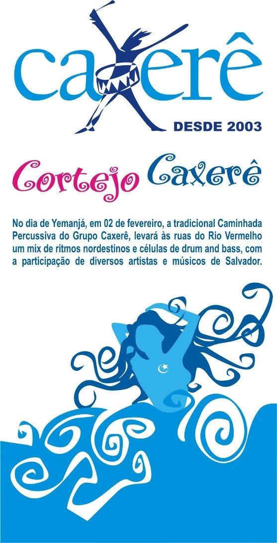 Cortejo Caxerê no Rio Vermelho dia 2 de fevereiro
