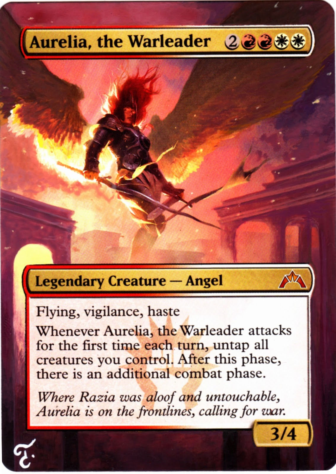MTG Alters By Tila: Aurelia, the Warleader - Gatecrash