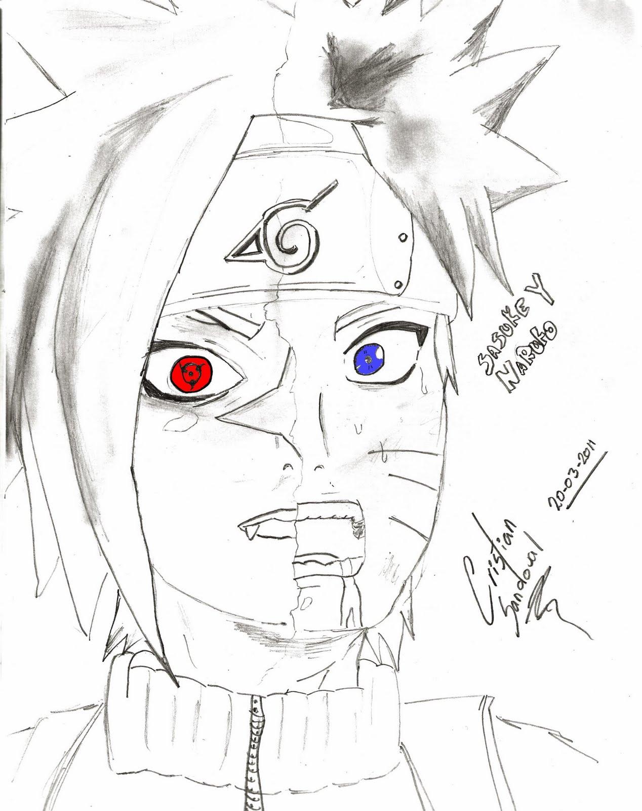 Aprender Dibujar Sasuke