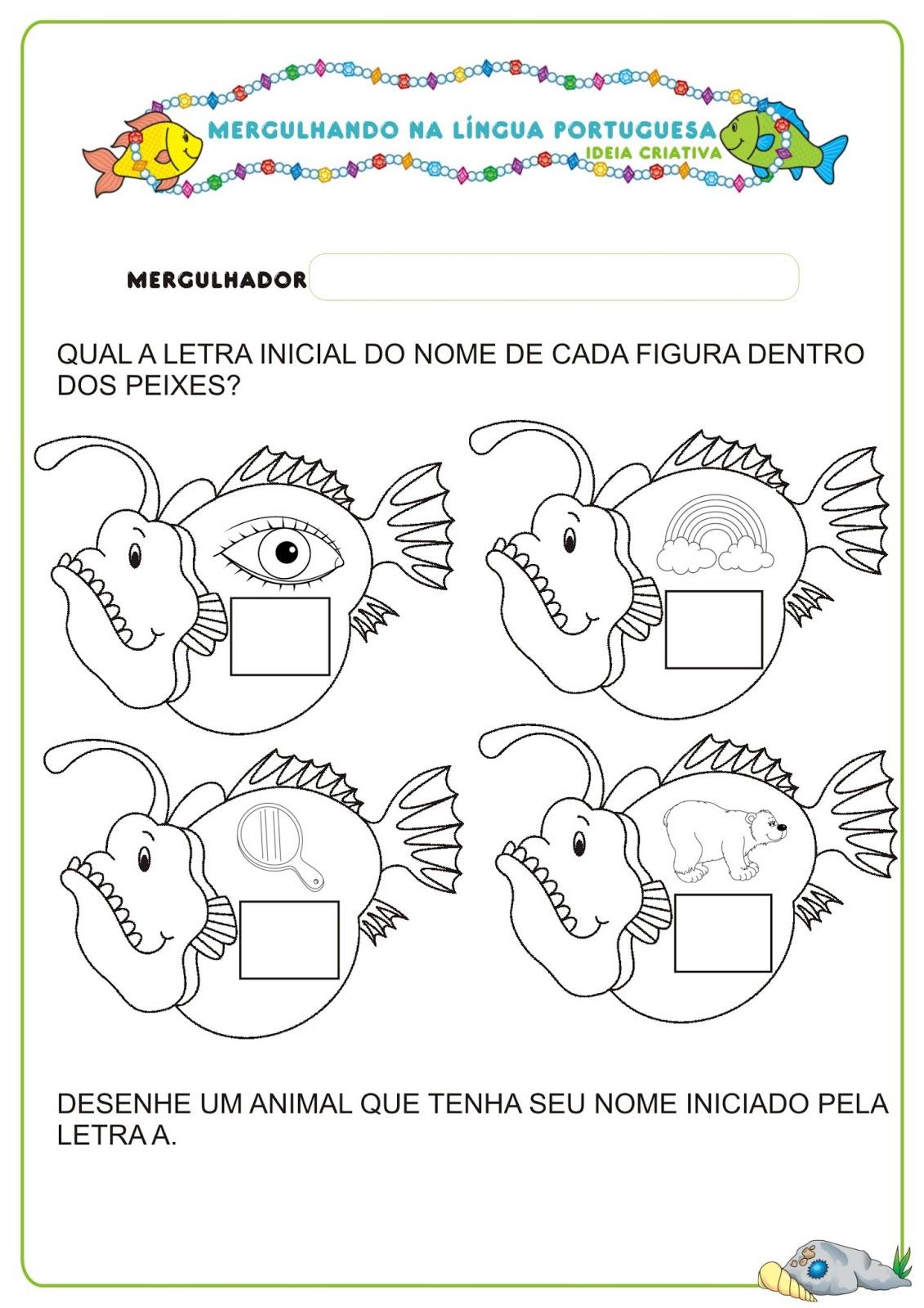 Caderno De Atividades Língua Portuguesa Projeto No Fundo Do Mar