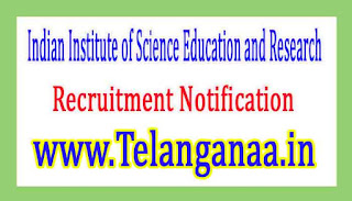 Indian Institute of Science Education and ResearchIISER Bhopal Recruitment Notification 2017
