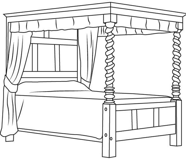 Cara Mudah Menggambar Atau Sketsa Ranjang Tidur Belajar Menggambar