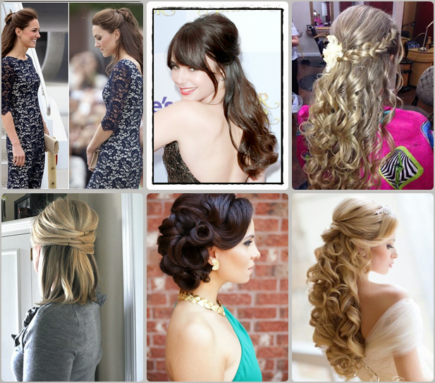 Super Top 3 Easy Half Updo Hairstyles You Should Try Latest Hair Short Hairstyles Gunalazisus