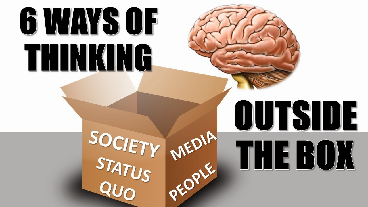 Header image for our article 6 Ways Of Thinking Outside The Box. It represents leaving the box of society, status quo, media and people in general.