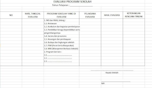 Buku Evaluasi Program Sekolah