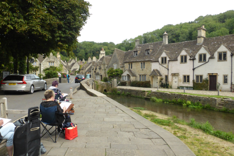 Paper Paint And Print Castle Combe Sketch Outing