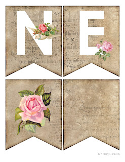 Free Printable Valentine's Day Banner from My Porch Prints