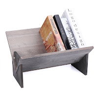 Rustic Farmhouse Wooden Table Top Bookshelf - Gift Ideas for Bookworms and Book Lover Gift Guide