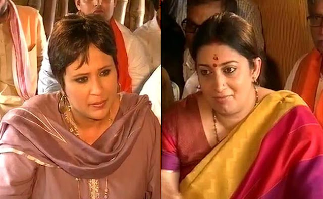 A nasty squabble broke out between Union Minister Smriti Irani and and NDTV star journalist Barkha Datt during the channel's show The Big Interview.  While both kept their voices low and resorted to nervous laughter, it was a no holds barred tussle between them.  The highlight of the debate, which the edited clip below shows, was Smriti Irani saying she knew Barkha Datt was not sexually inclined towards the female kind, forcing the journalist to clarify the question she had asked.