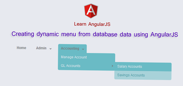 Creating dynamic menu from database data using AngularJS