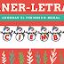 """Letras/baner """"Diciembre"""" para el periódico mural"""
