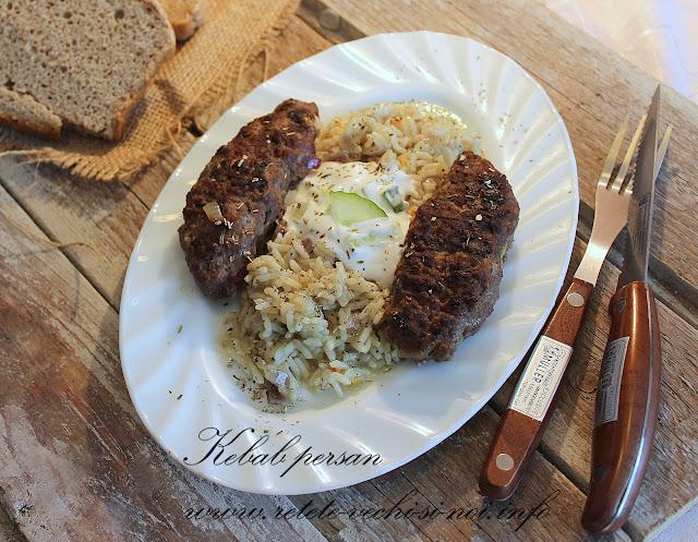Kebab persan cu carne de strut