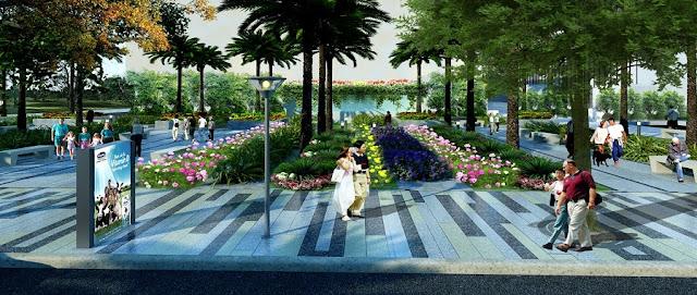 Không gian sống xanh tại Imperial Plaza