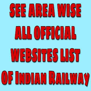 RRB area wise official website lists