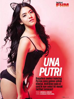 Sexy Putri Una on FHM Magz 2014
