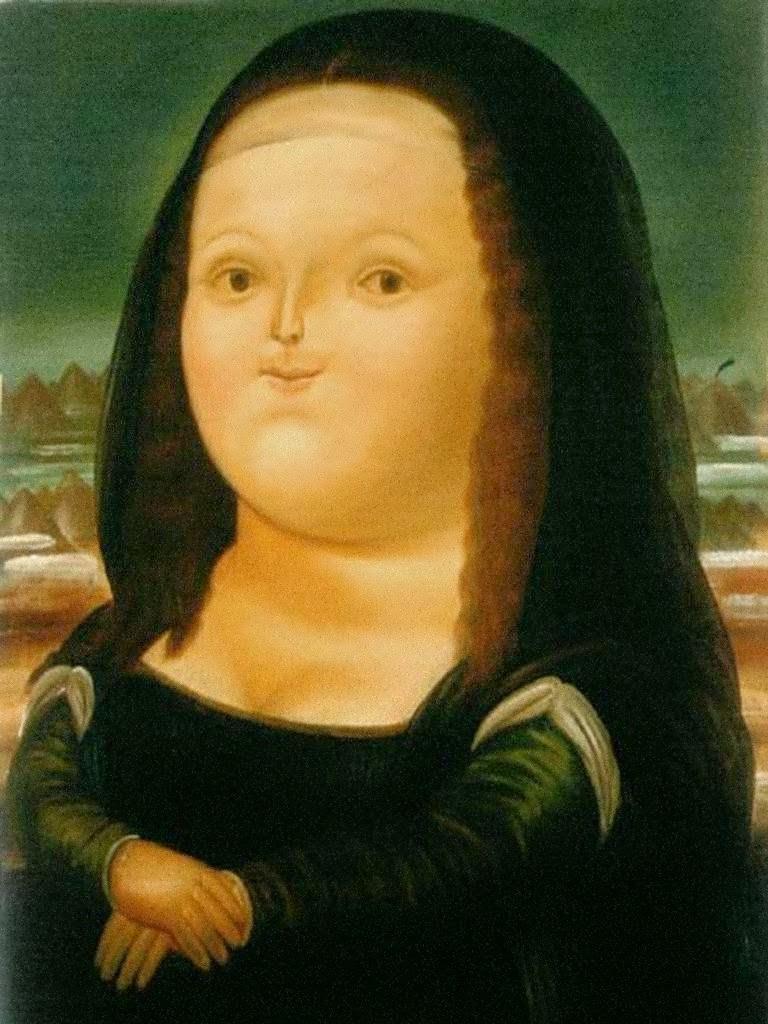 Monalisa - Fernando Botero e suas pinturas ~ O pintor das figuras volumosas