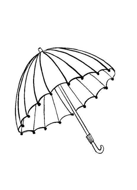Gambar Mewarnai Payung - 2