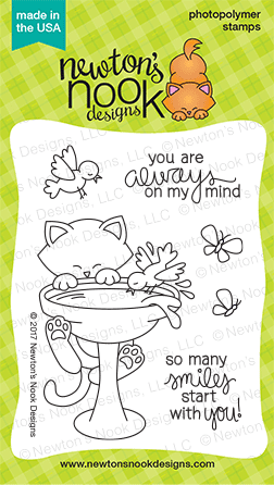 Newton's Nook Designs Newton's Birdbath stamp set