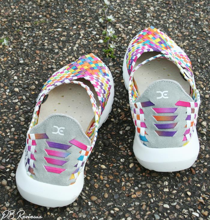 Elast Tessa White Multi Coloured Mary Jane from Hey Dude Shoes