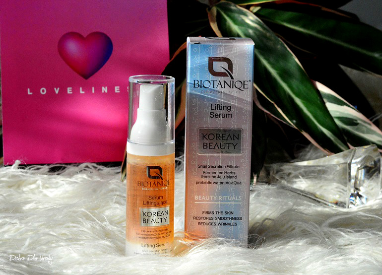 Loveliness by ShinyBox ♥ Lutowe pudełko Shiny BIOTANIQE Serum liftingujące Korean Beauty