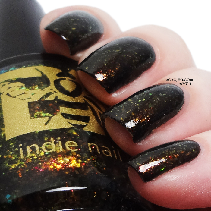 xoxoJen's swatch of Bee's Knees - My Dark Avenger