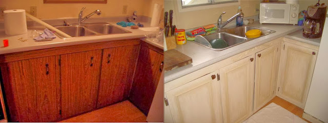 My Kitchen Cabinets Started As Dark Dirty Brown Mdf Very Typical For A Seventies Mobile Home