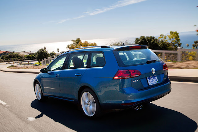 2015 VW Golf SportWagen TDI SE driving