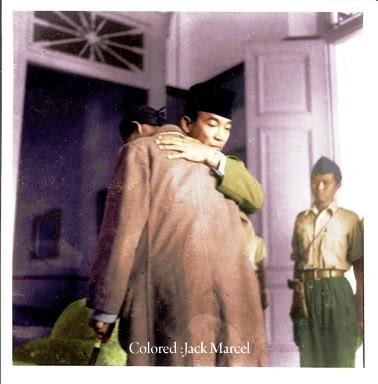 foto foto tempo dulu jenderal Sudirman dan Sukarno