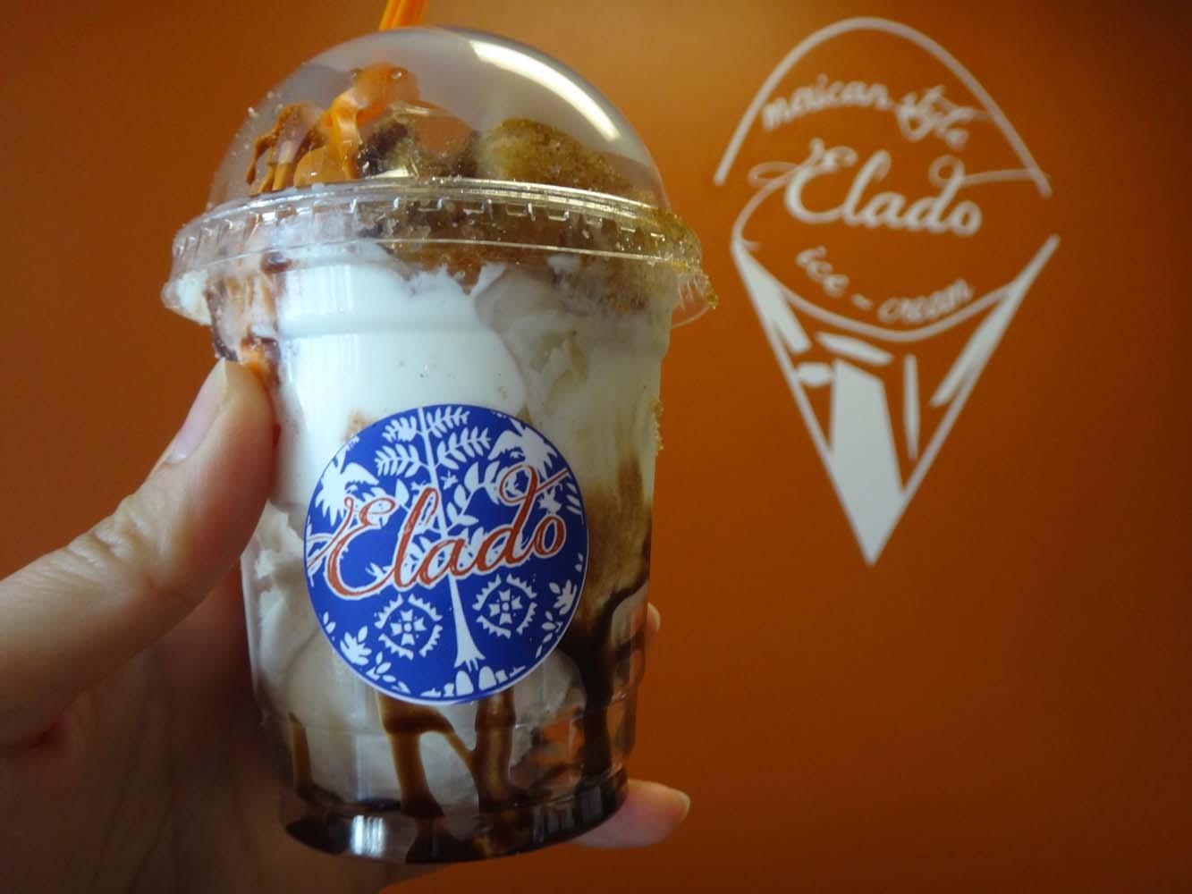 YUMMY FRESH CHURROS WITH MEXICAN STYLE ICE CREAM @ ELADO - ANAHEIM ...
