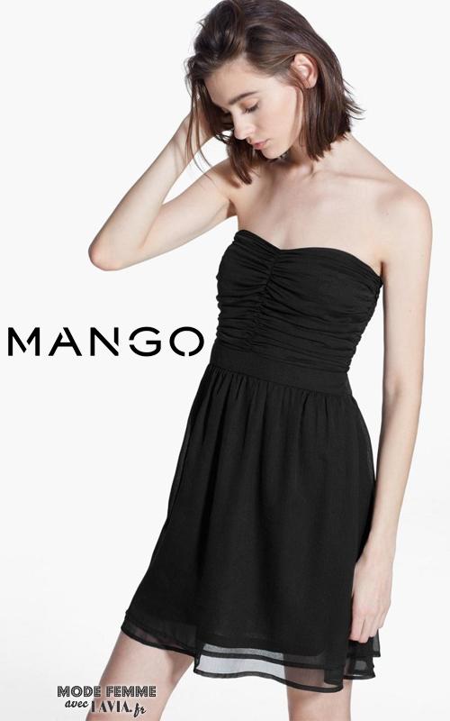 Courte Noire Bustier Mango Robe Mnvn80w yb7gIY6vf