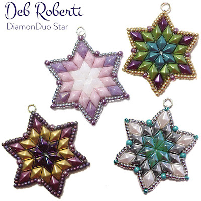Free DiamonDuo Star pattern at AroundTheBeadingTable.com