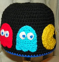 http://www.ravelry.com/patterns/library/not-afraid-of-no-ghosts--pac-man-inspired--hat-pattern