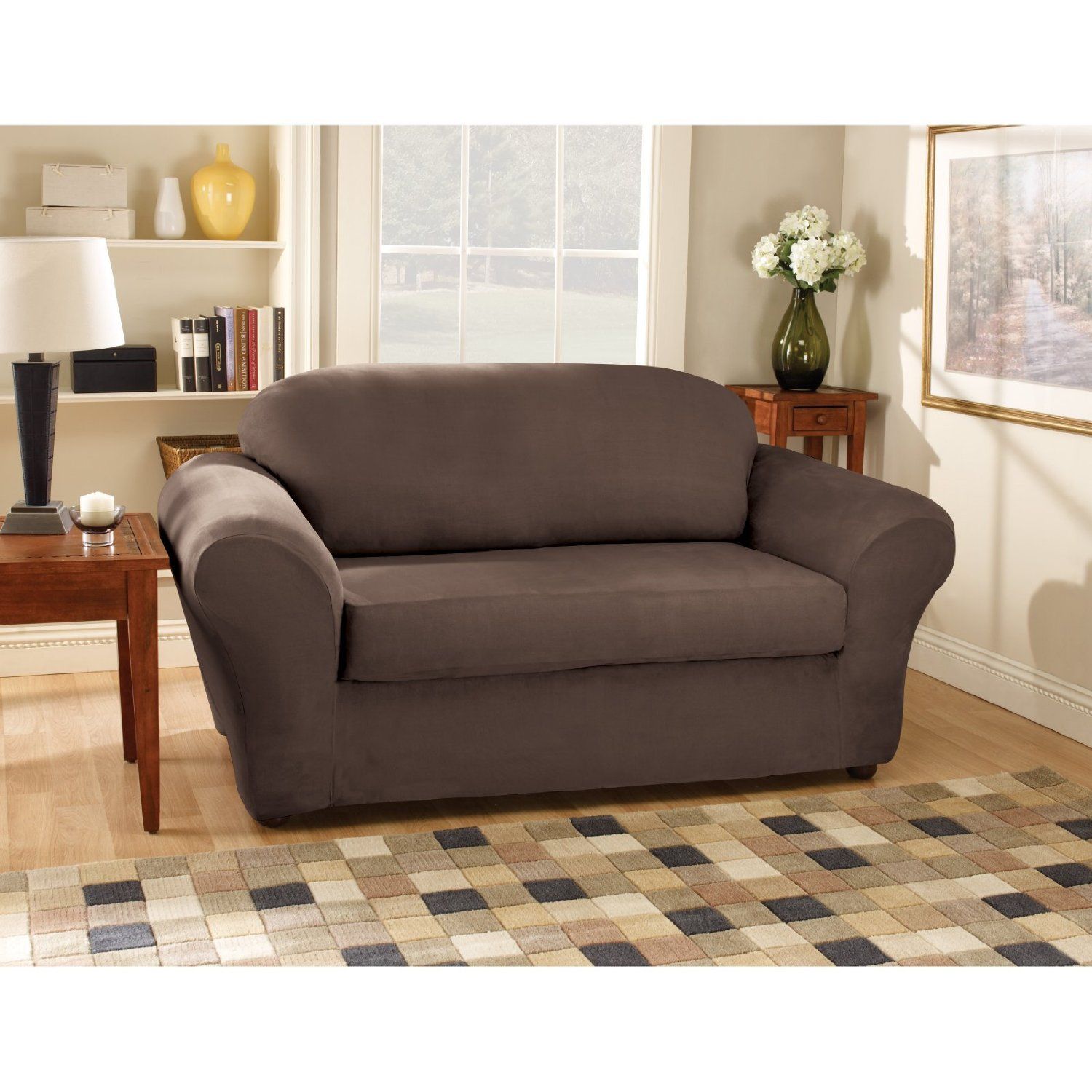 Sure Fit Logan Sofa Slipcover Children S Sofas And Chairs Discount Slip Covers Images Frompo 1