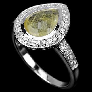 pierścionek z kwarcem rutylowym i cyrkoniami co kupić na dzień kobiet 2016
