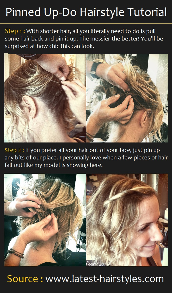 Pinned Up-Do Hairstyle Tutorial
