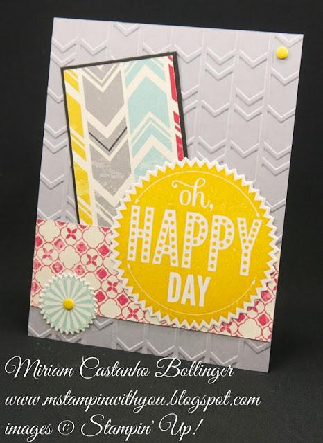 Miriam Castanho-Bollinger, #mstampinwithyou, stampin up, demonstrator, ppa, masculine, birthday card, congratulations, flashback dsp, starburst sayings, starburst framelits, big shot, arrows tief, su
