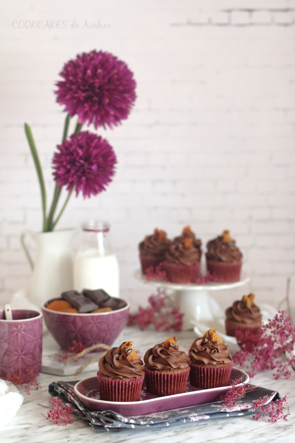 Cupcakes Tarta Sacher. Reto Cupcakesrevival. Cookcakes de Ainhoa