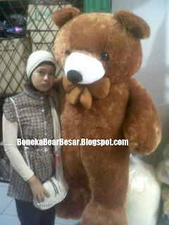 gambar boneka teddy bear besar coklat