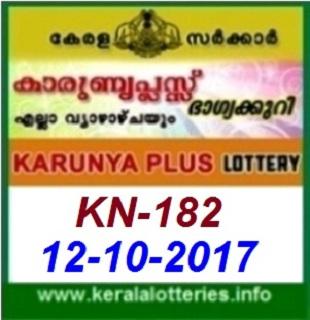 Karunya Plus KN-182 lottery result