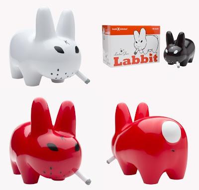 Kidrobot Glossy Smorkin' Labbit by Frank Kozik - White, Red and Black Editions.jpg