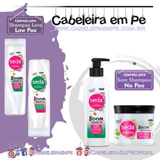 Linha Boom Liberado - Seda (Shampoo e Condicionador Low Poo --- Cowash e Geleia liberadas para No Poo)