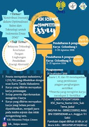 Kompetisi Penulisan Essai KIK Science Competition (KSC) 2018