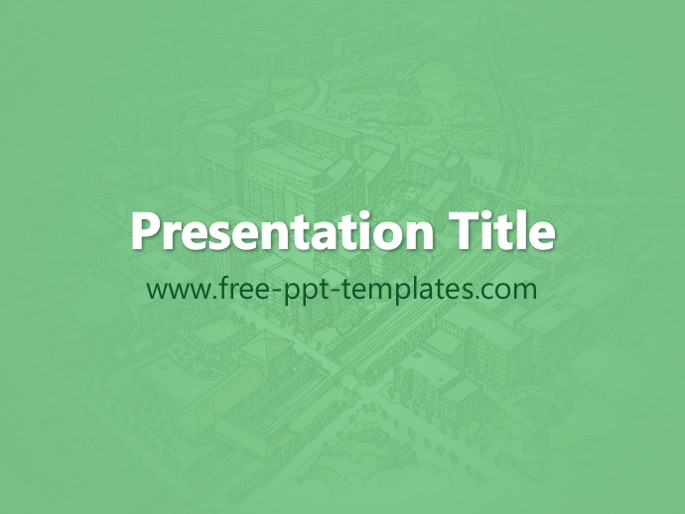 Urban planning ppt template toneelgroepblik
