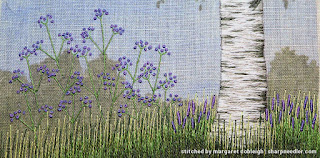 Under the Silver Birch (designed by Jo Butcher): Adding some purple flowers