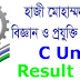 Hajee Danesh University C Unit Result 2016-2017