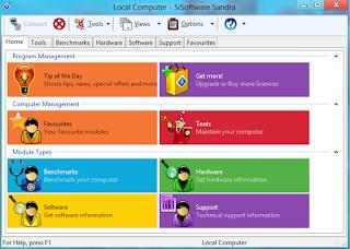 تحميل برنامج SiSoftware Sandra لمعرفة معلومات كاملة عن الكمبيوتر